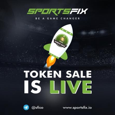 SportsFix Token Sale starts on October 9!